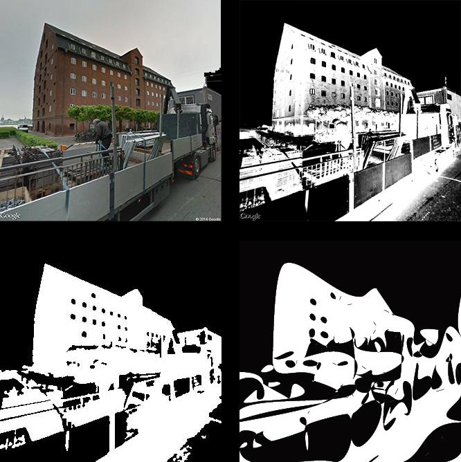 Degraded images taken from Google streetview