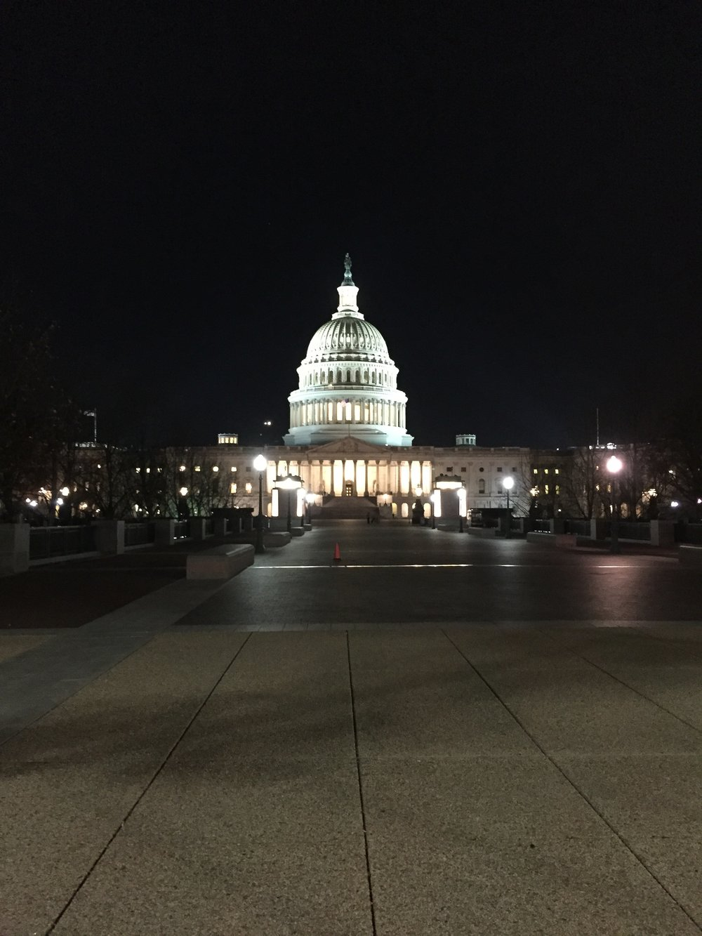 The Capitol Building at night. Image by Rachel Hammersley.