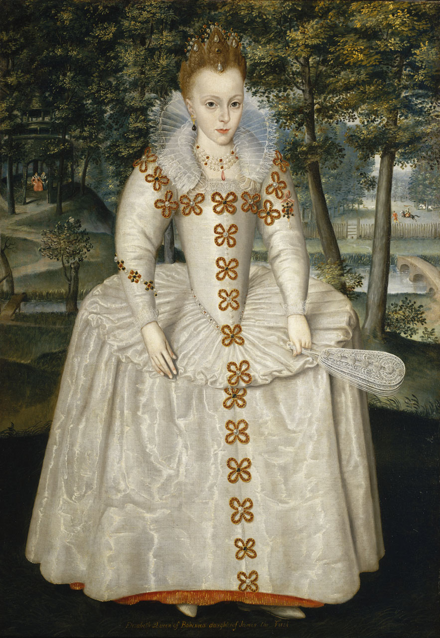 "Robert Peake, 'Princess Elizabeth (Elizabeth of Bohemia, ""The Winter Queen"", 1596-1662' (1603) @ National Maritime Museum, Greenwich, London. I am grateful to the National Maritime Museum for permission to reproduce this portrait here."