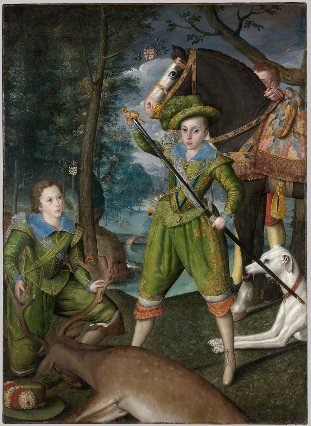 Robert Peake the Elder, 'Henry Frederick (1594-1612), Prince of Wales, with Sir John Harrington (1592-1614), in the Hunting Field' (1603), http://www.metmuseum.org/art/collection/search/437272. I am grateful to the New York Metropolitan Museum of Art for allowing me to reproduce this image in accordance with their Open Access for Scholarly Content Policy.