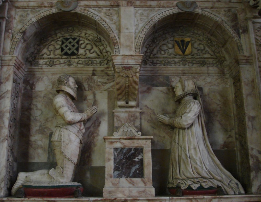 Monument to Sir James and Lucy Harrington in the Church of St Peter & St Paul, Exton, Rutland. Image by Catherine Snowball.