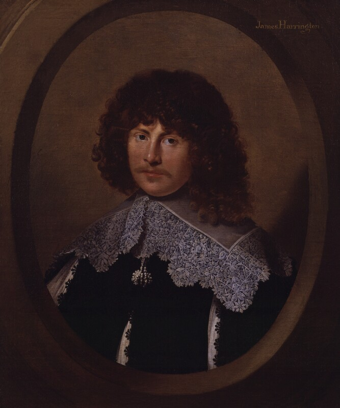 James Harrington by an unknown artist c. 1635. National Portrait Gallery, NPG513. Reproduced under the National Portrait Gallery's Creative Commons Licence.