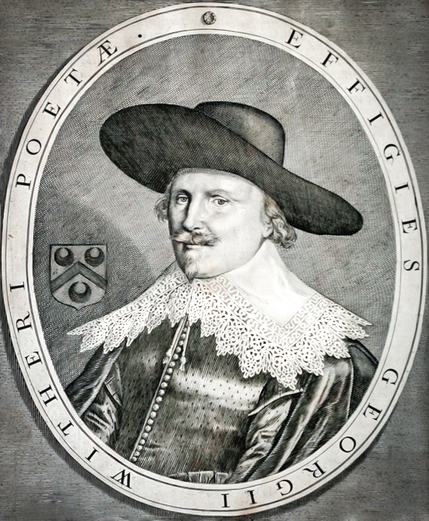 Engraving of George Wither by John Payne from  A Collection of Emblemes  (1635). Taken from Wikimedia Commons. https://commons.wikimedia.org/wiki/File:George_Wither_Engraving.jpg