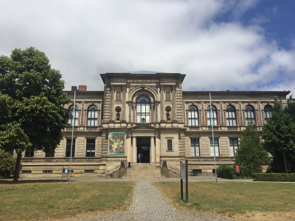 Exterior of the Herzog August Bibliothek, Wolfenbüttel. Photograph by Rachel Hammersley.