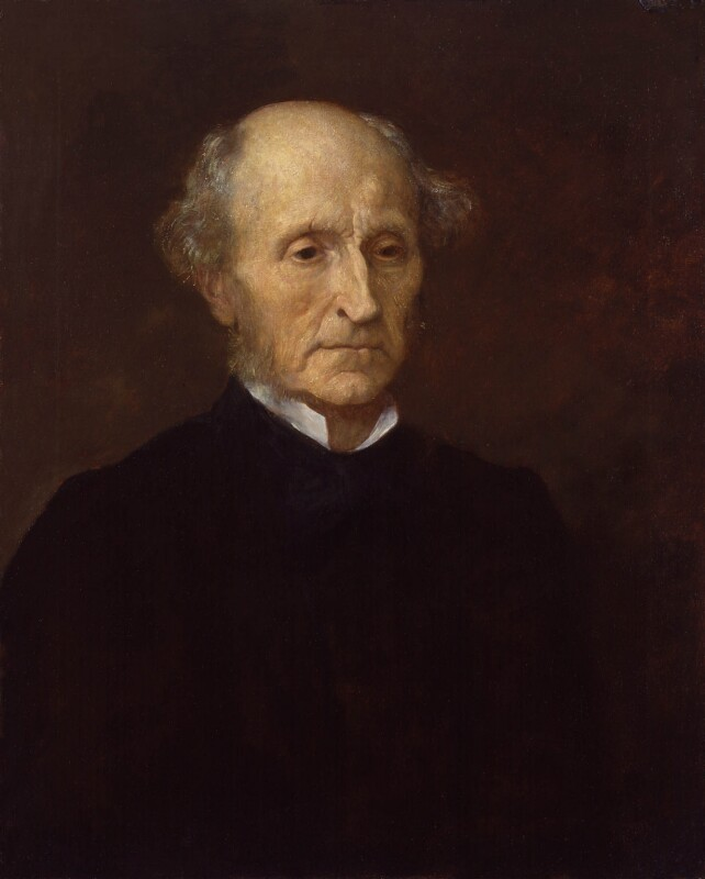 John Stuart Mill, replica by George Frederick Watts, 1873. National Portrait Gallery NPG 1090. Reproduced under a Creative Commons License.