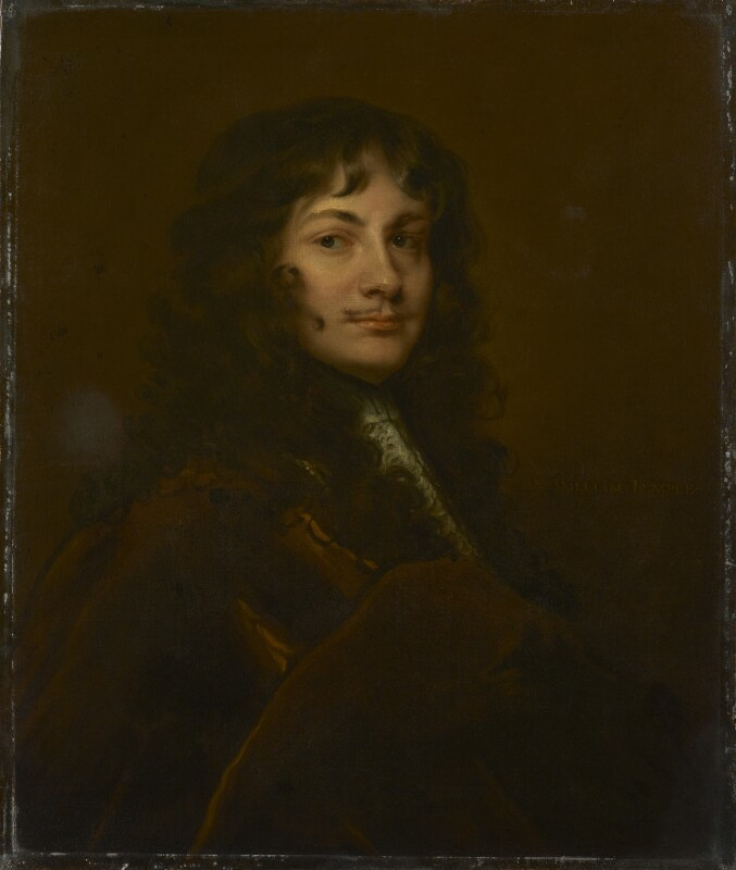 Sir William Temple, Bt., after Sir Peter Lely. Based on a work of c.1660. National Portrait Gallery NPG 152. Reproduced under a Creative Commons License.