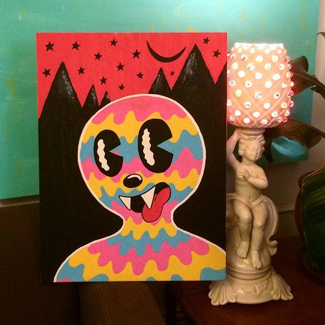 New digs, new art, samo #goopdude #art #woodcanvas #poscapen #instaart