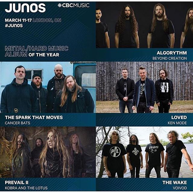 A couple bands I had the pleasure of working with last year have been nominated for Juno Awards. That's dope. Congrats to @cancerbats and @megannashmusic !!! Bring it home!! #junos