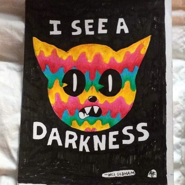 """""""I See a Darkness"""" - Will Oldham  #wip #willoldham #bonnieprincebilly #art #drawing #doodle #instaart #darkness #"""