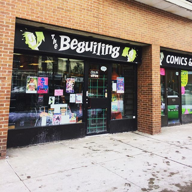 """My comic """"LOSS"""" is on the consignment shelf at @thebeguiling Go check out this awesome shop and pick one up!! Support local art and business in one fell swoop! . . . #comic #comicbook #comicbookstore #thebeguiling #toronto #torontoart #goopdude #loss #shoplocal #diy #consignment #art #cartoon #cartoonist #drawing"""