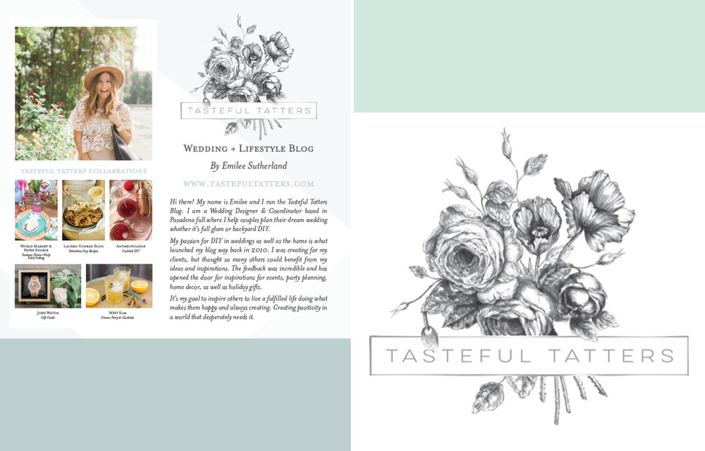 Tasteful Tatters - INDUSTRY: WEDDING + EVENT PLANNINGBrand Development Coaching     Creative Design | Branding + Collateral