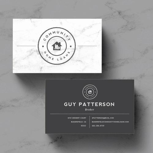 Community home loans purveyor house business card design colourmoves
