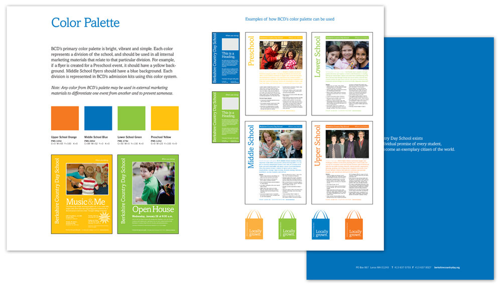 Berkshire Country Day School visual identity guidelines