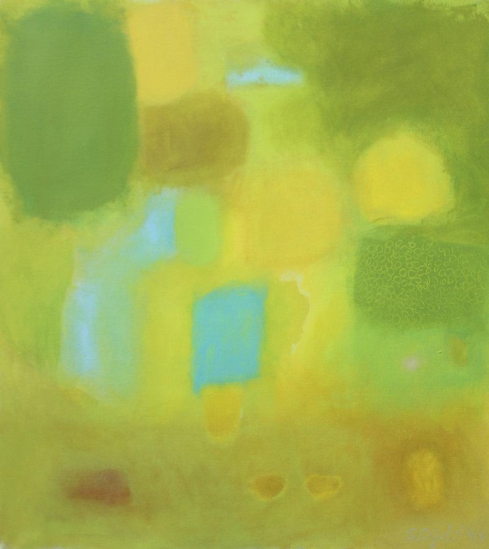 'Glance' 2009, 36x40- mixed media on Belgian Linen.jpg