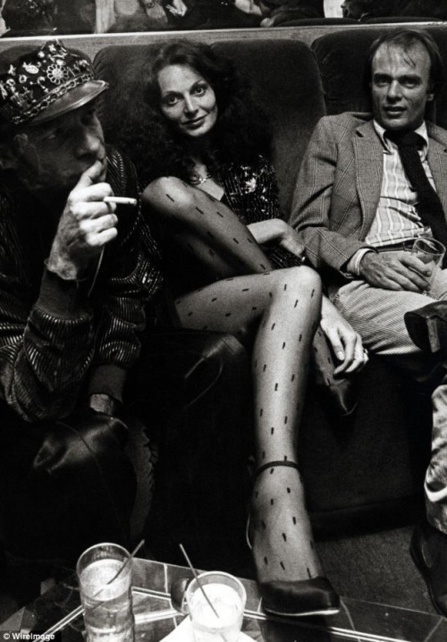 Photography: Unknown | Diane von Furstenberg at Studio 54, 1970's