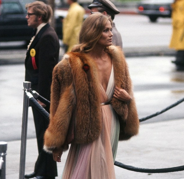 Photography: Michael Montfort | Lauren Hutton at the Academy Awards, 1975