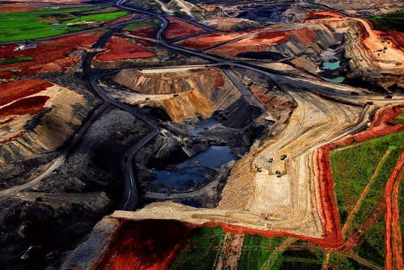 Photography: Yann Arthus Bertrand | Aerial View of Coal Mine in South Africa