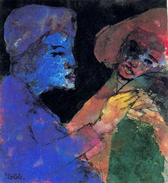"Artist: Emil Nolde | Flirting   ""She found the colours to paint him, where the world had left him grey."" -Atticus"