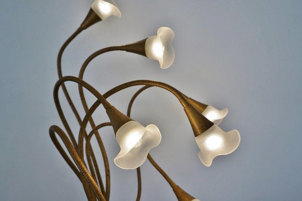 Design: Bouquet of Calla Lilies,Reggiani Floor lamp c. 1980