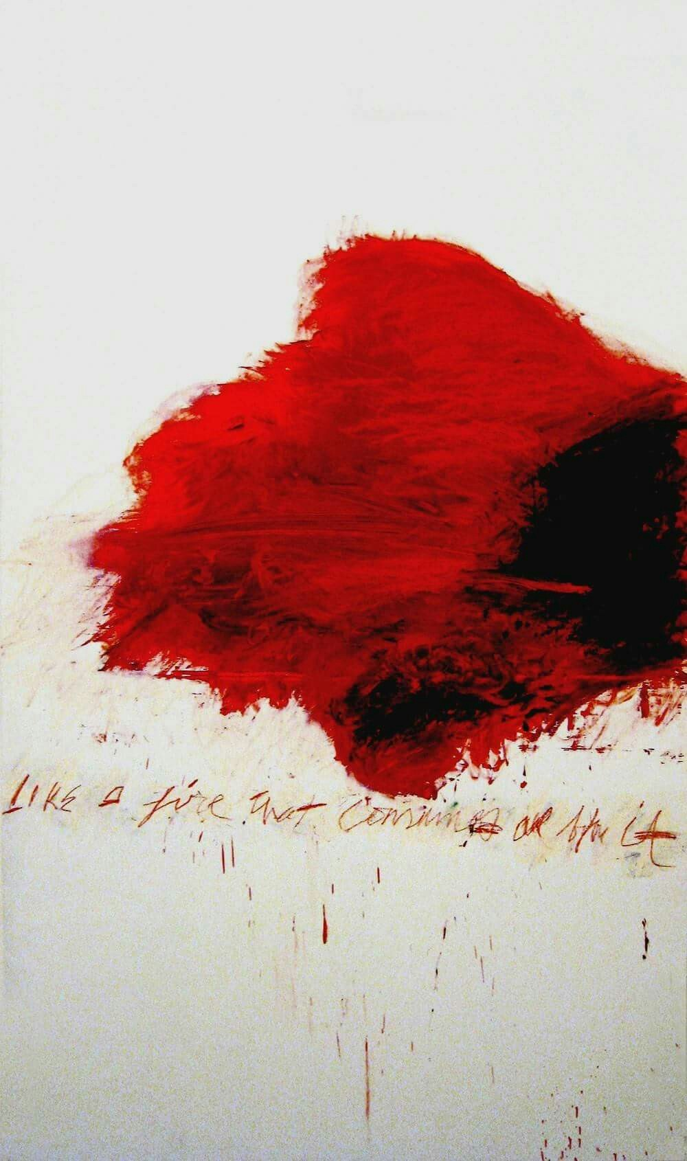 "Artist: Cy Twombly, 1978 ""Like a Fire that Consumes all before it."""