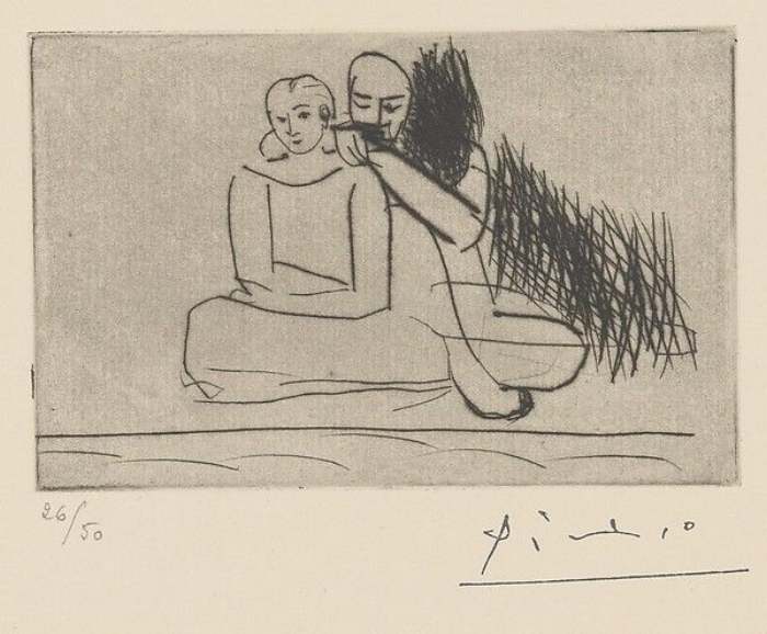 Artist: Pablo Picasso | Couple at the Shore