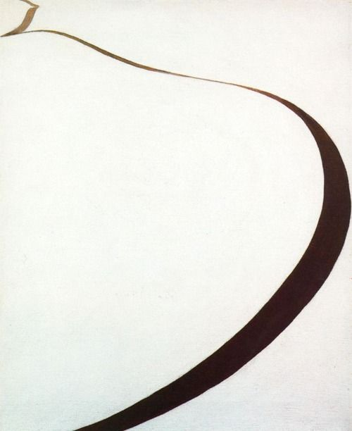 Artist: Georgia O'Keeffe | Winter Road on Canvas, 1963