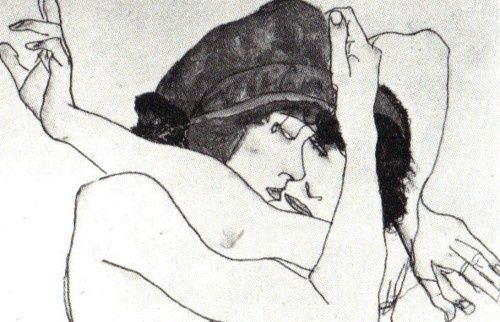 Artsit: Egon Schiele | Girlfriends, 1913