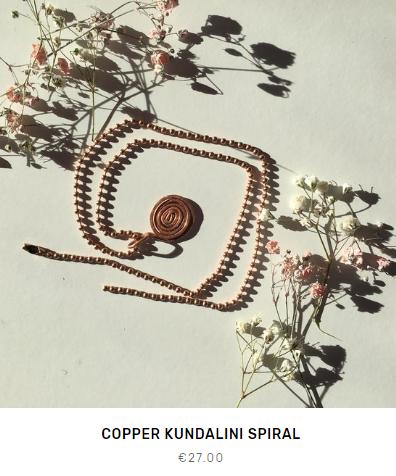 Copper Kundalini Spiral Fleet and Flower