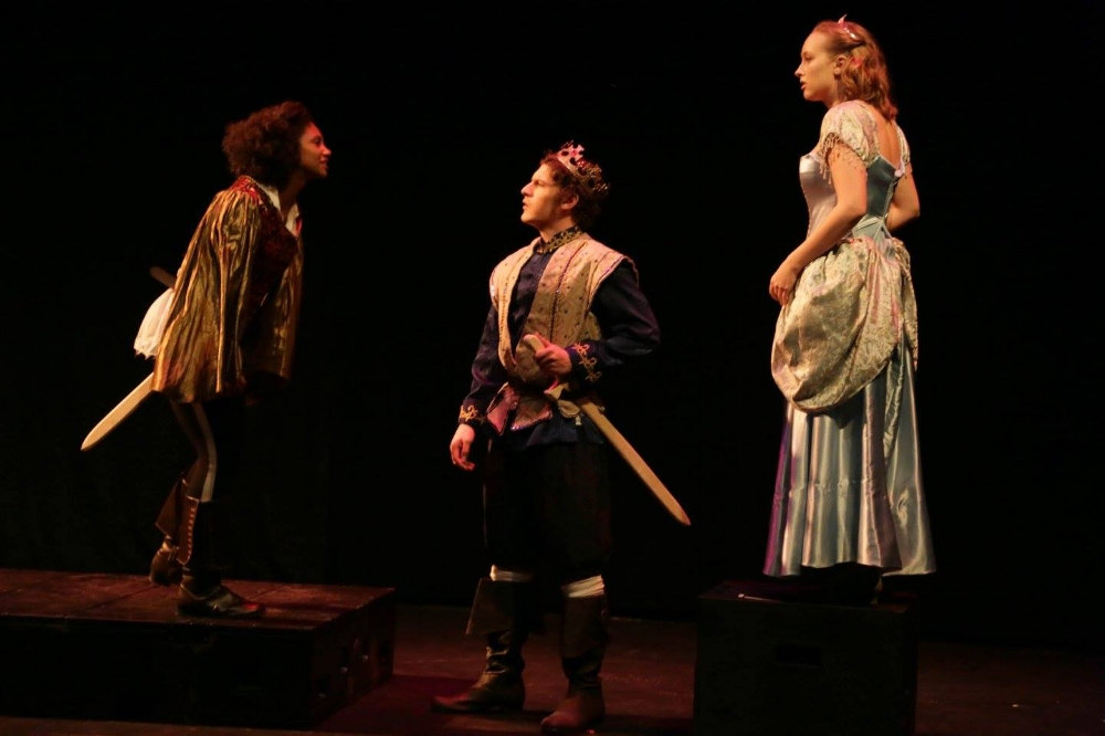 Ruffian (Alexis Whitted), Prince (Josh Ewalt), Princess (Ashley Jorgensen)