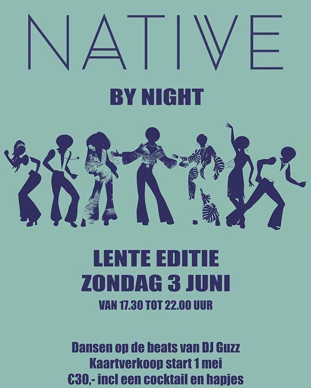 Wat een feest; de nieuwe editie van Native by night zal op zondag 3 juni gaan plaatsvinden. Gooi je haar in de krul en schudden maar met die heupjes #putonyourdancingshoes #hetleveniseengrotediscobal #vierhetleven