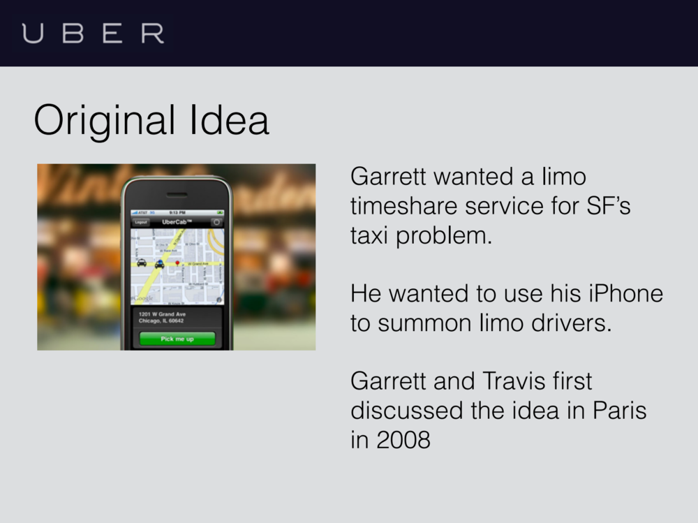 We deep-dove the founding story of Uber - their founders, product, model, competitors, and market opportunity.