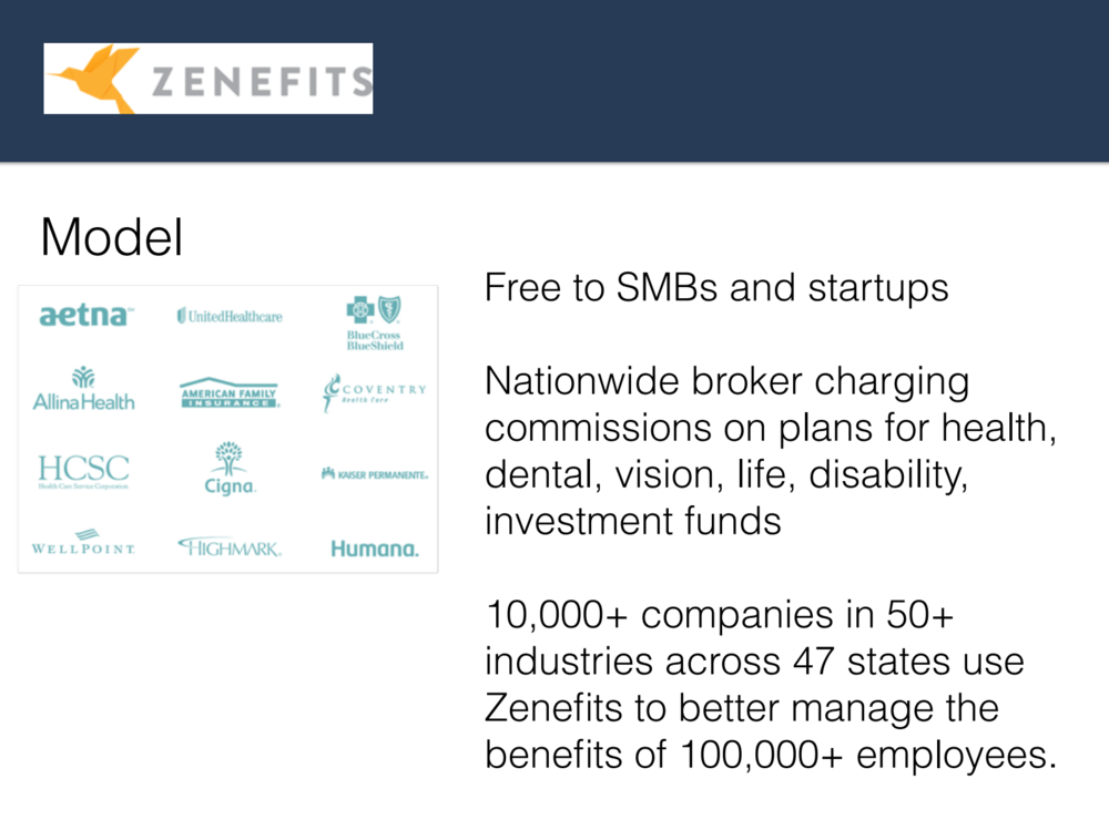 We deep-dove Zenefits and their quick-scaling approach to cloud-based brokered human resources.