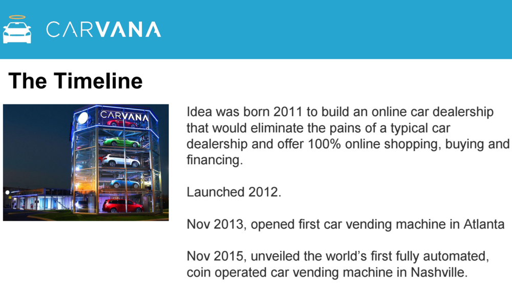 We deep-dove Carvana: their founders, team, product, model, investments, competitors and market opportunity.