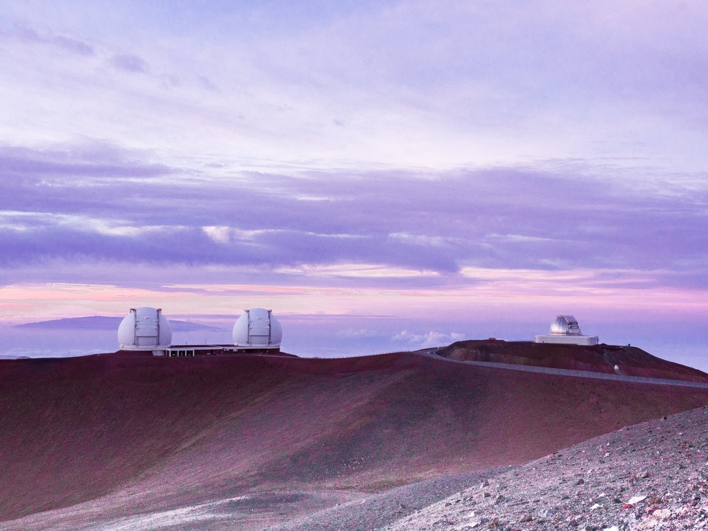 A few of the telescopes. Doesn't this look like another planet?!