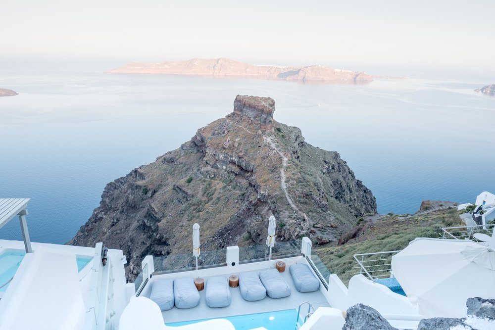 Skaros Rock from Grace Santorini