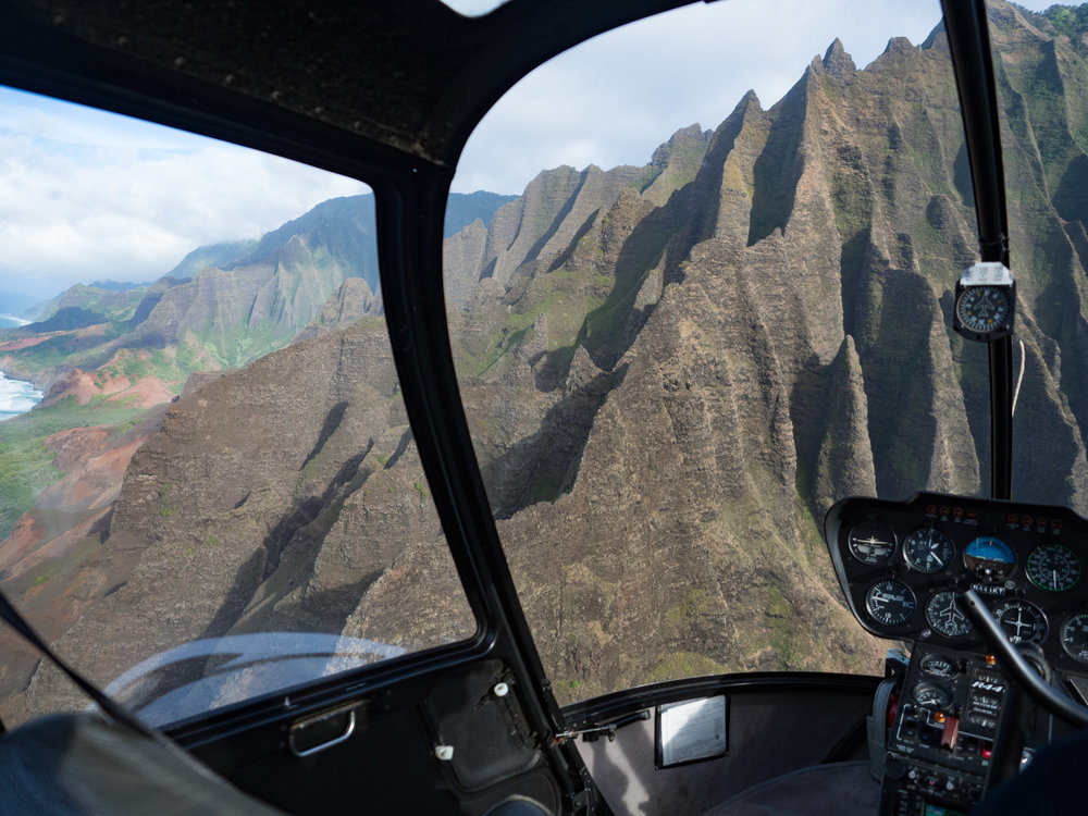 "Entering ""The Cathedrals"" of The Na Pali Coast"