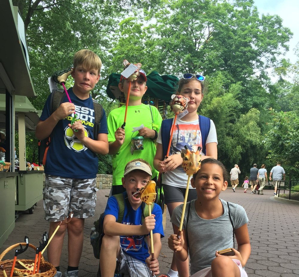 Field Trip Campers at the National ZOO