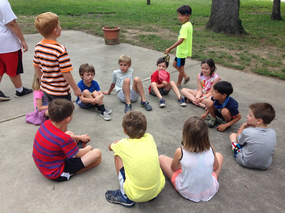 Our campers have a lot of energy as they start their day with some morning circle games!