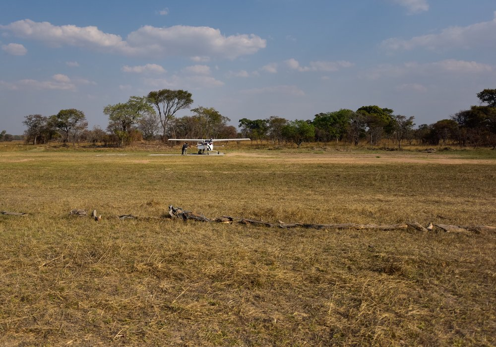 The airstrip near Busanga Bush Camp (BBC).