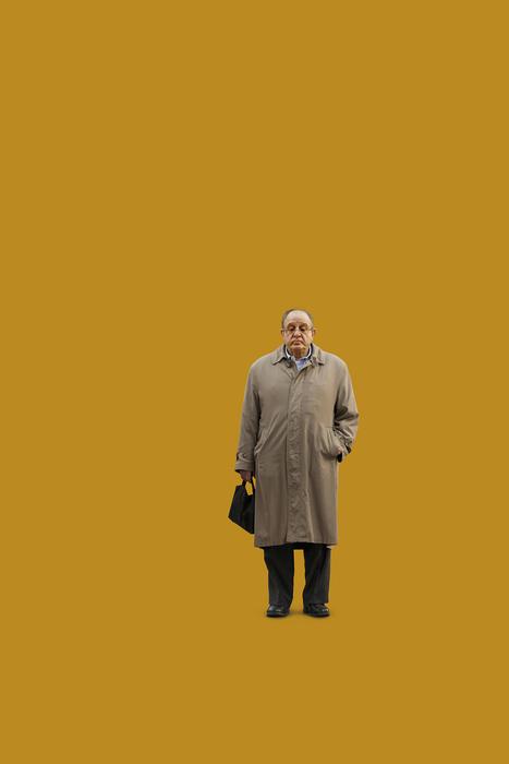 "Jack Toolin-""Untitled (man_trench_coat)""-$800"