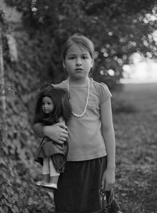 """Helene Macaulay-""""Girl with Doll"""" (11""""x14"""")-$1000 JUROR AWARD"""