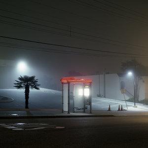 """Kyle Kim-""""The Foggy Night"""" (12""""x12"""")-$500"""