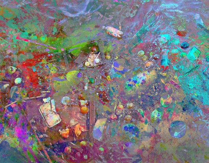 """Linda Lewis-""""Fruit Soup""""-(14""""x18"""")-$399"""