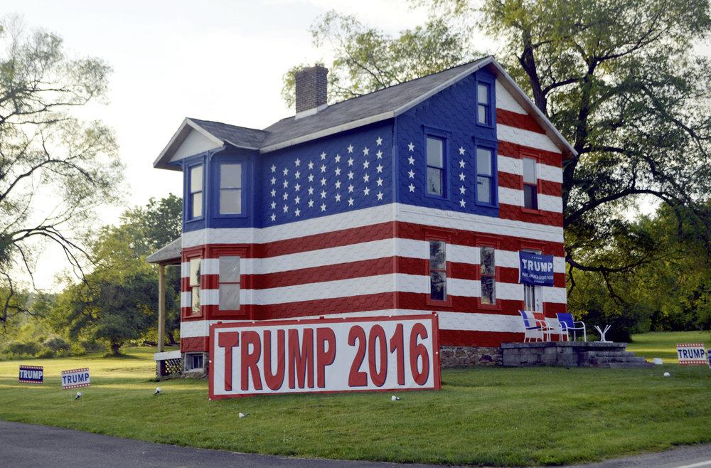 "Robert Carley -   ""Heartland House Campaign 2016""   (22""x30"") -  $800"