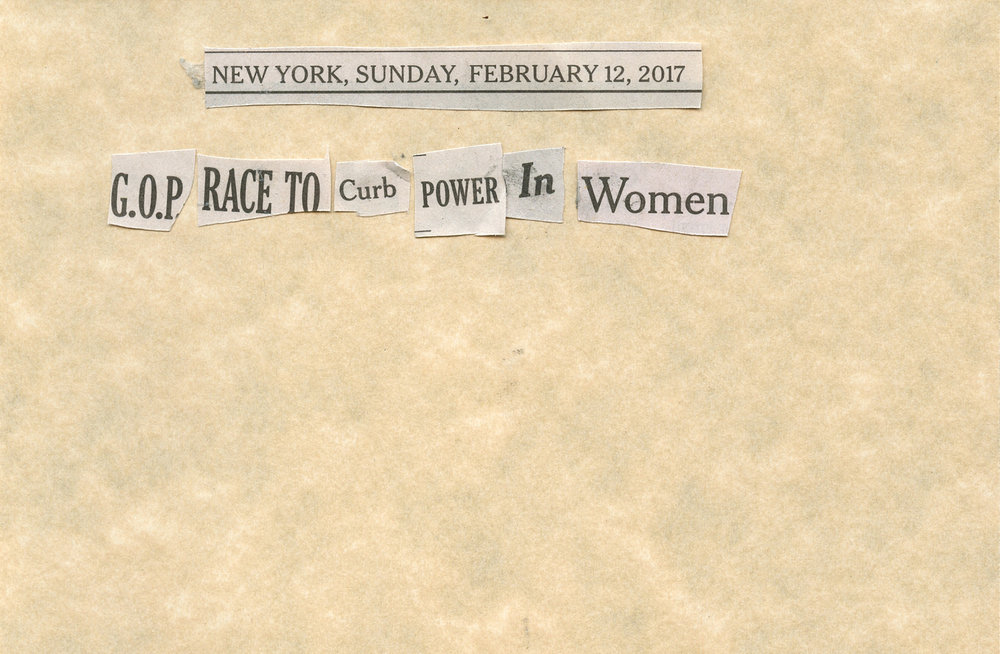 "BOLDFACE -   ""BOLDFACE: Feb. 13, 2017""   (4""x6"") -  $150"