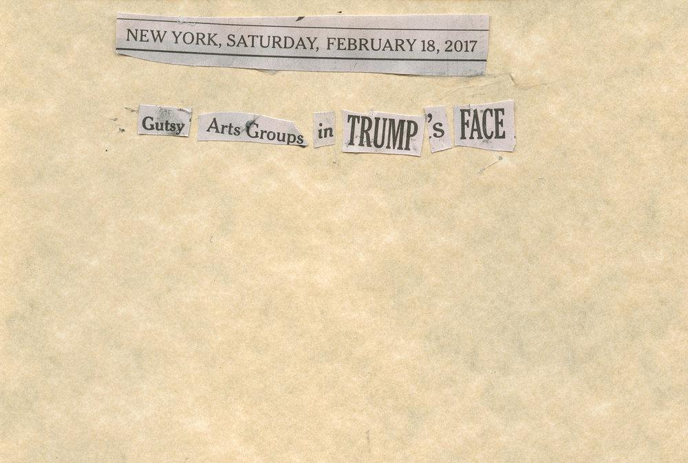 "BOLDFACE -   ""BOLDFACE: Feb. 18, 2017""   (4""x6"") -  $150"