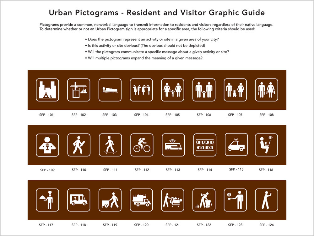 "Michael E. Goldman -   ""Urban Pictograms- A Graphic Guide""    (10""x10"") -  $275"