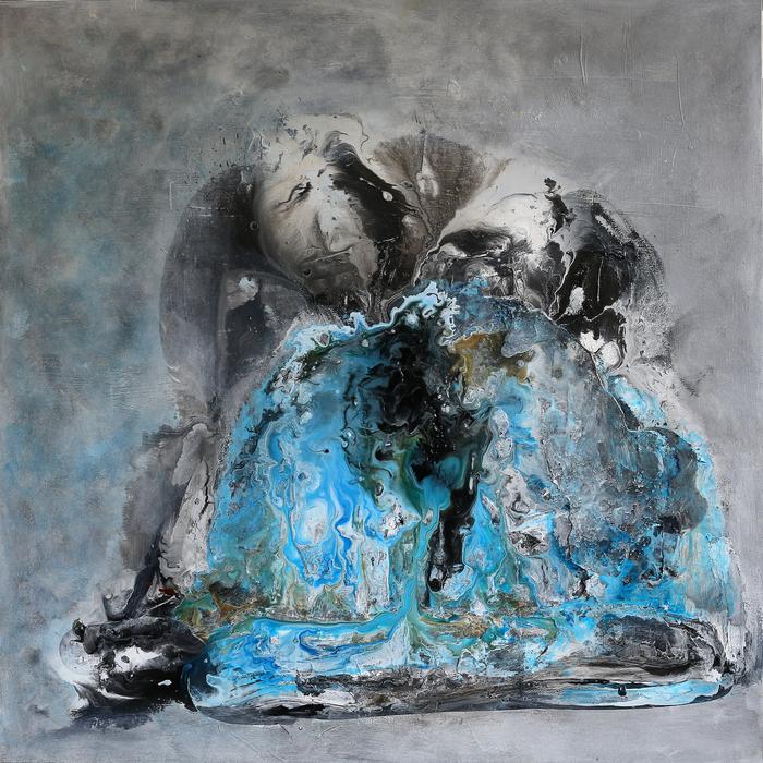 """Clara Berta-""""Letting Go""""(36""""x 36"""") - $2400"""