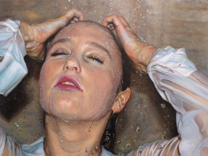 "Megan Burak-   "" Soaked ""   (18""x 24"") -  $2050"