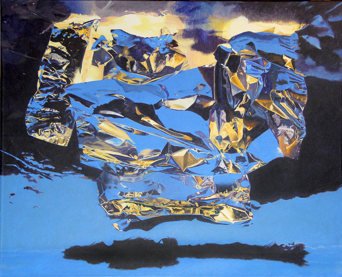 "Paul Chapman   - "" The Nature of Light: Ice Blue   ""   (26""x 32"") -  $4500"